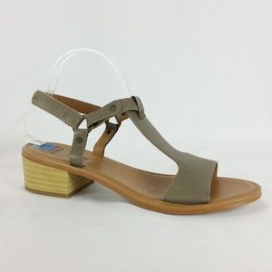 Clarks 10N Taupe Leather Sandal